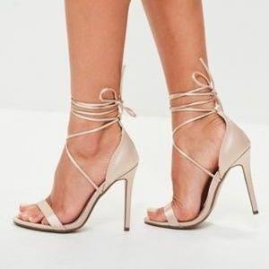 Missguided  blush heel NEW